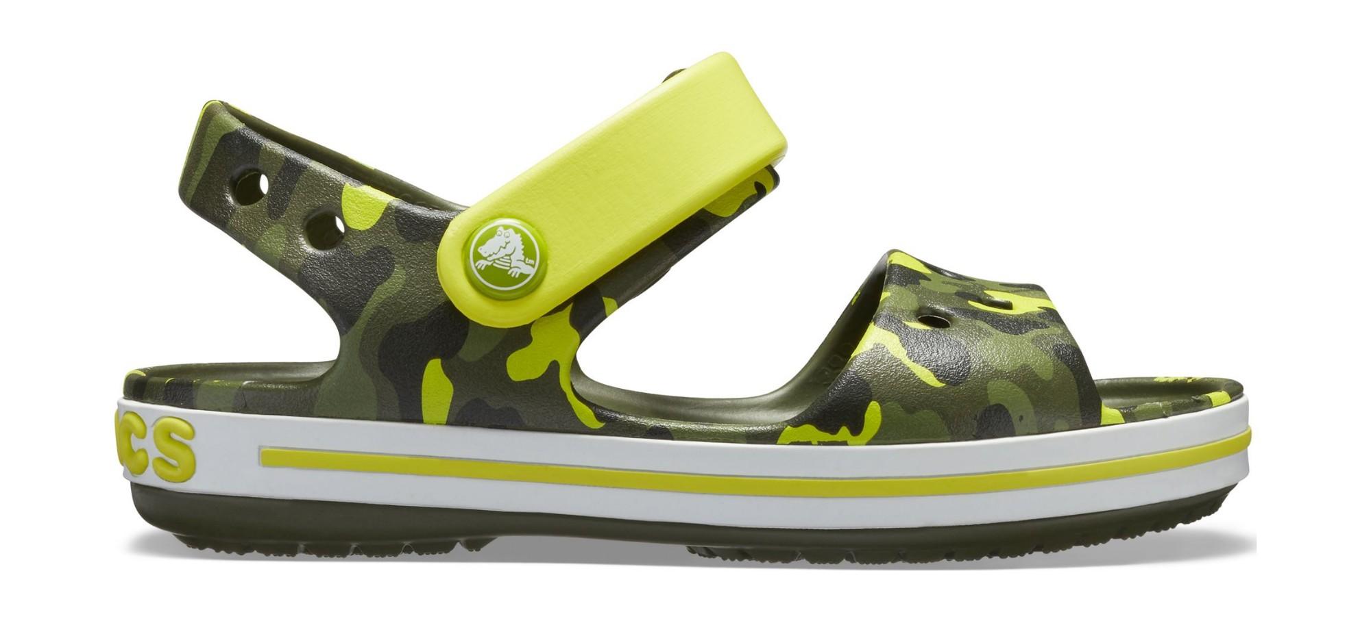 Crocs™ Crocband Seasonal Graphic Sandal Kid's Citrus 27