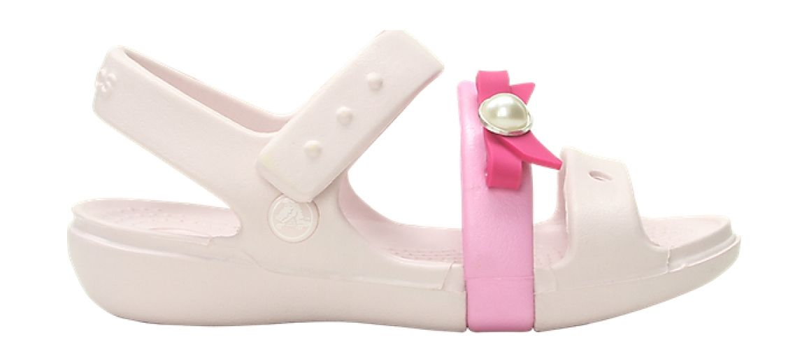 Crocs™ KEELEY CHARM SANDAL KID'S Barely Pink 25