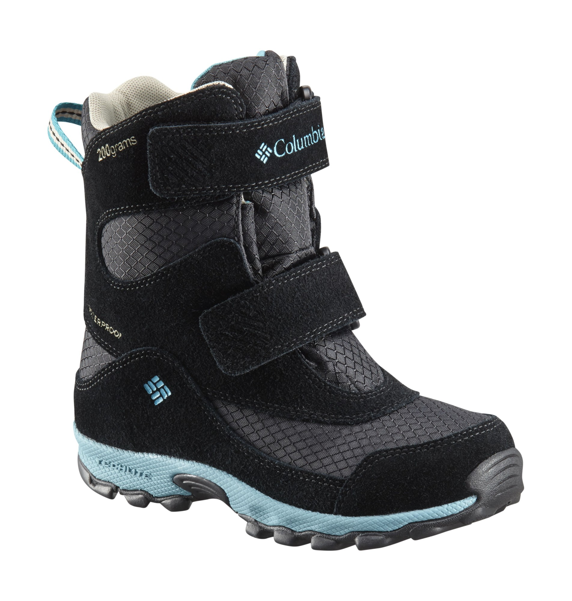 Columbia Parkers Peak Velcro Boot Black/Pacific Rim 25