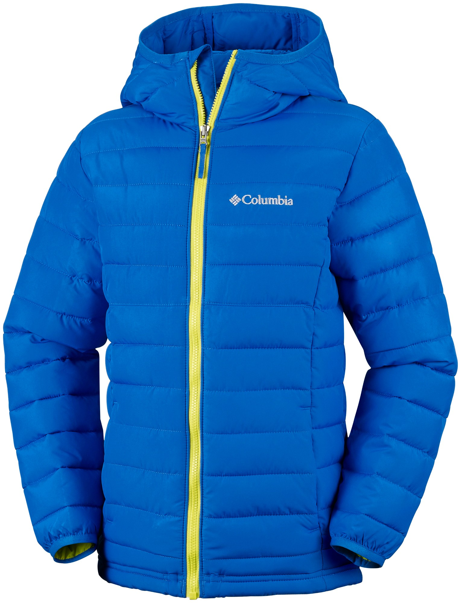 Columbia Powder Lite Boys Hooded Jacket Super Blue 152