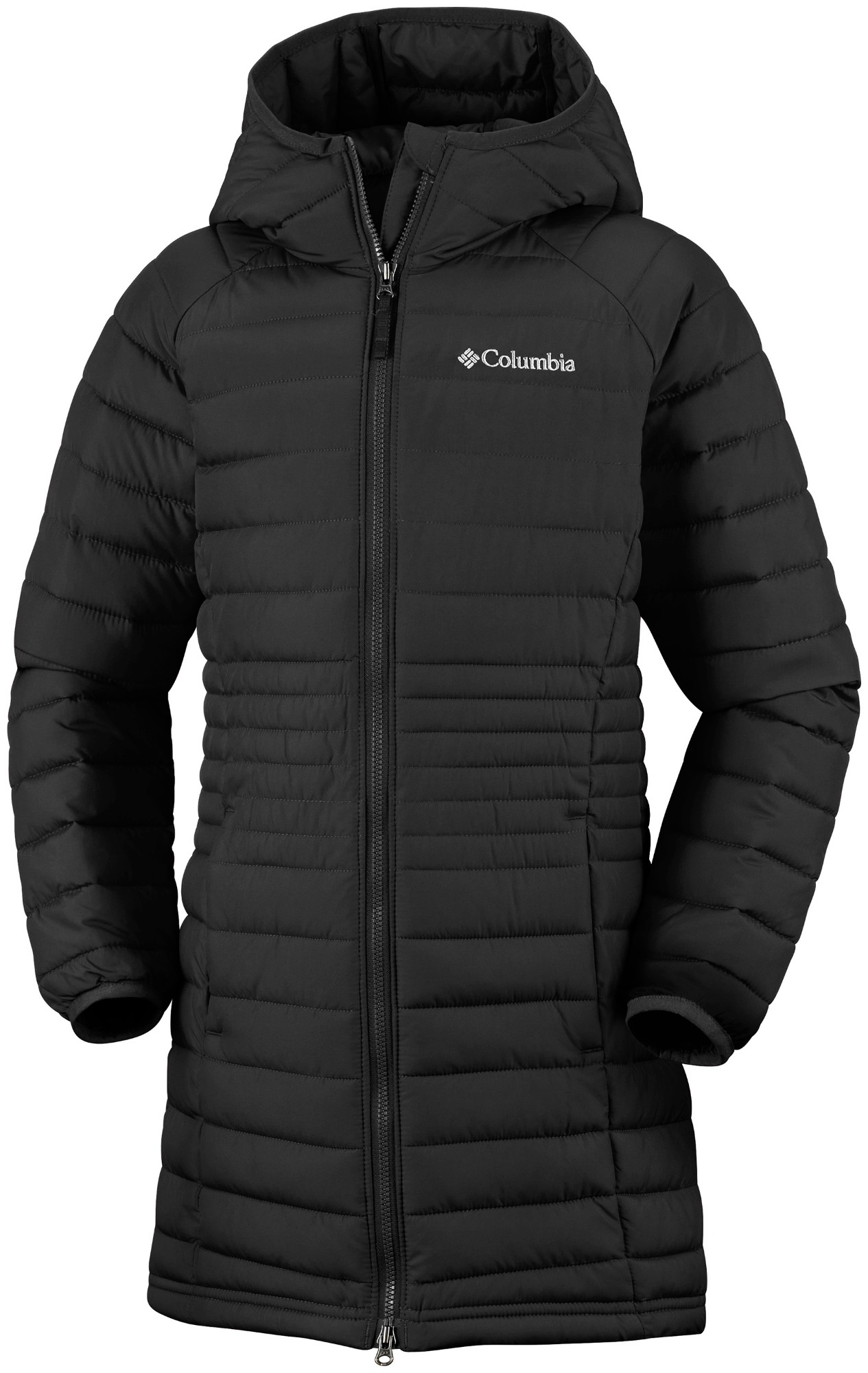 Columbia Powder Lite Girls Mid Jacket Black 164