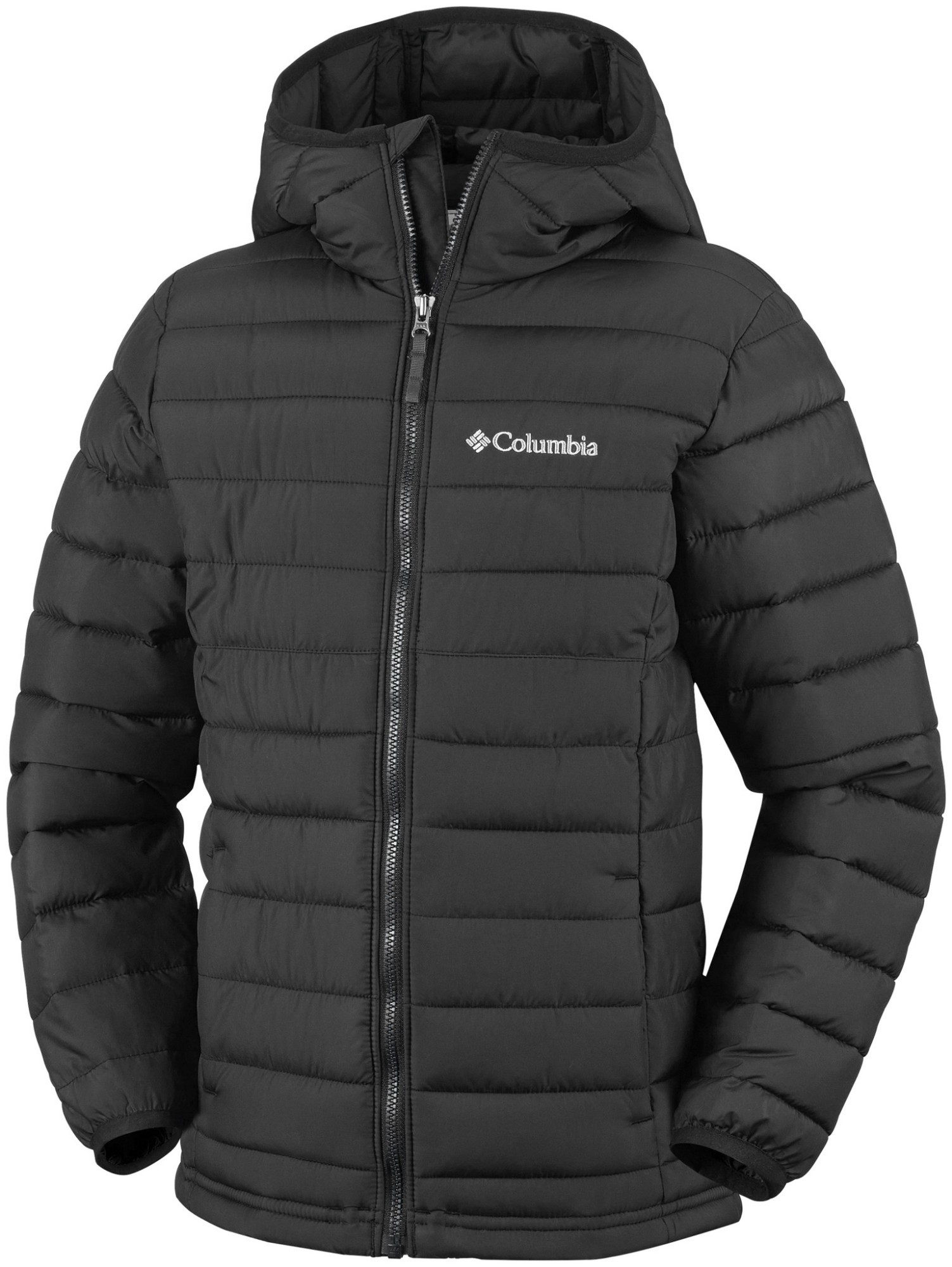 Columbia Powder Lite Boys Hooded Jacket Black 140