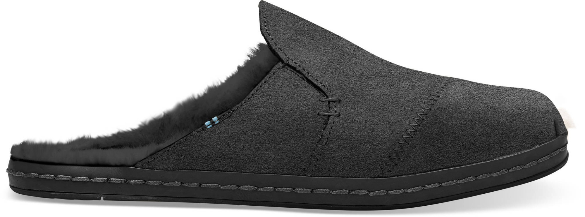 TOMS Suede Faux Fur Women's Nova Leather Wrap Black 39