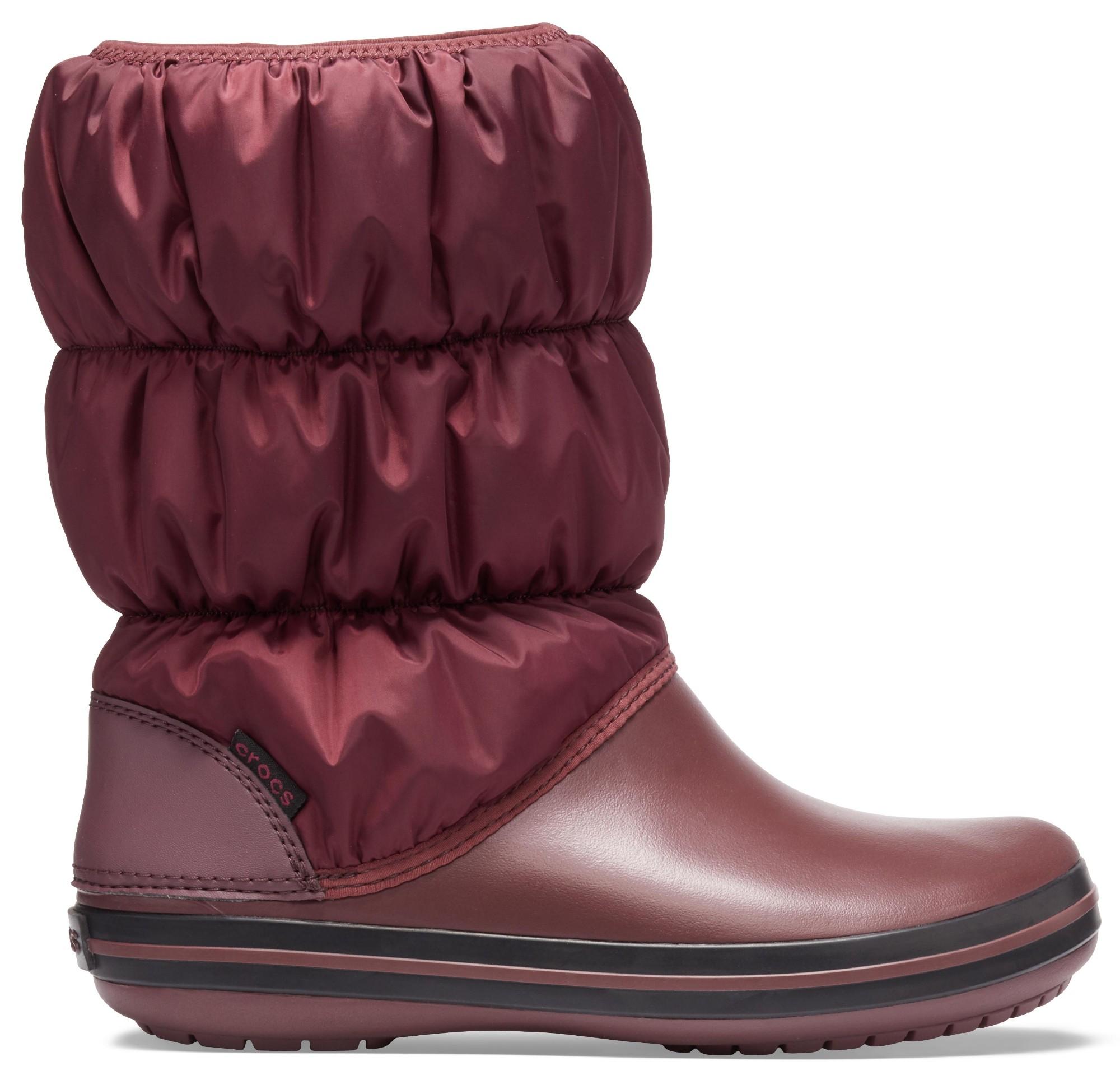 Crocs™ Winter Puff Boot Burgundy/Black 42,5