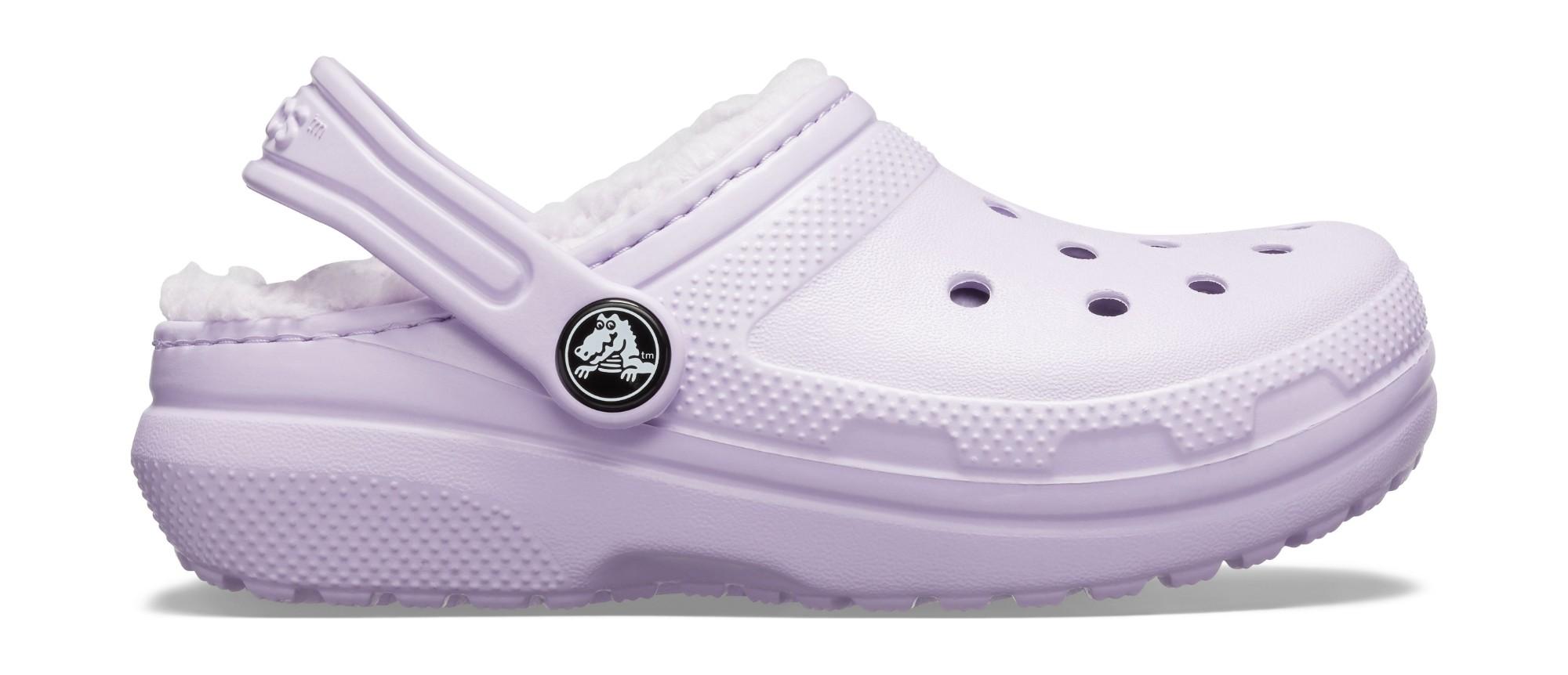 Crocs™ Kids' Classic Lined Clog Lavender/Lavender 35