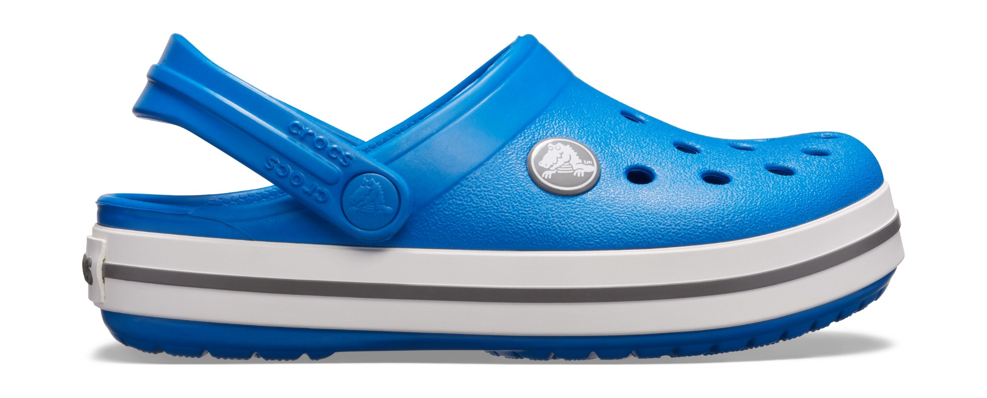 Crocs™ Kids' Crocband Clog Bright Cobalt/Charcoal 27