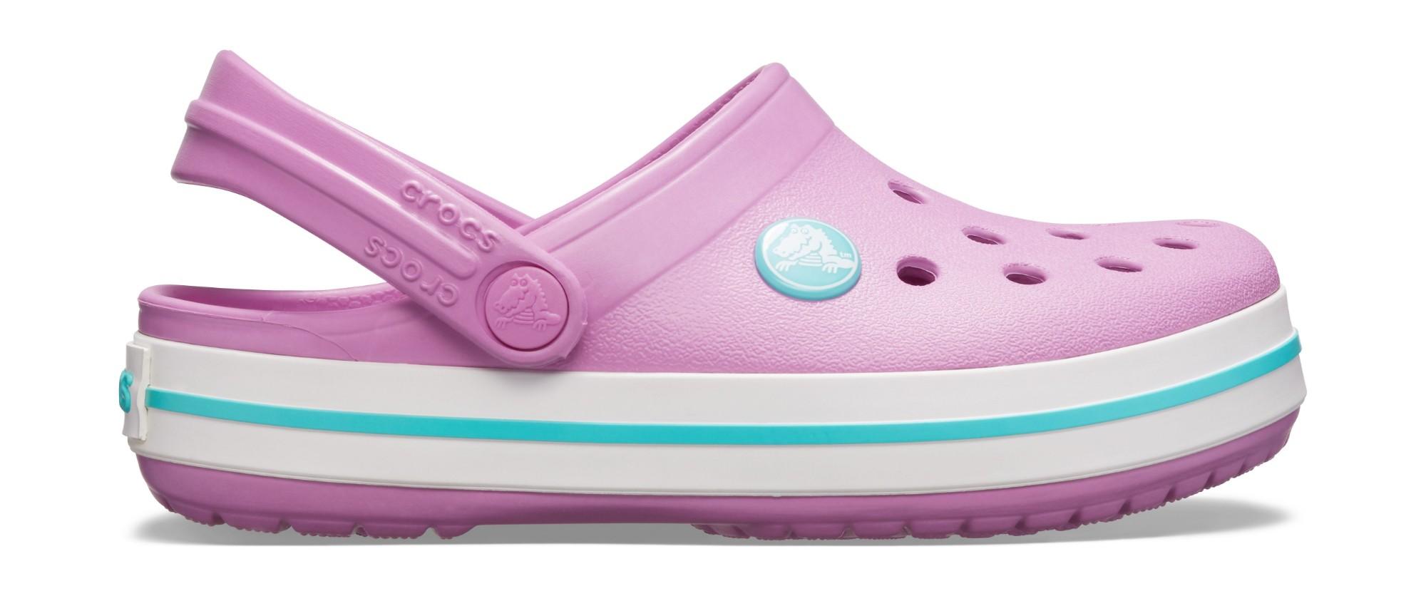 Crocs™ Kids' Crocband Clog Violet/Pool 23
