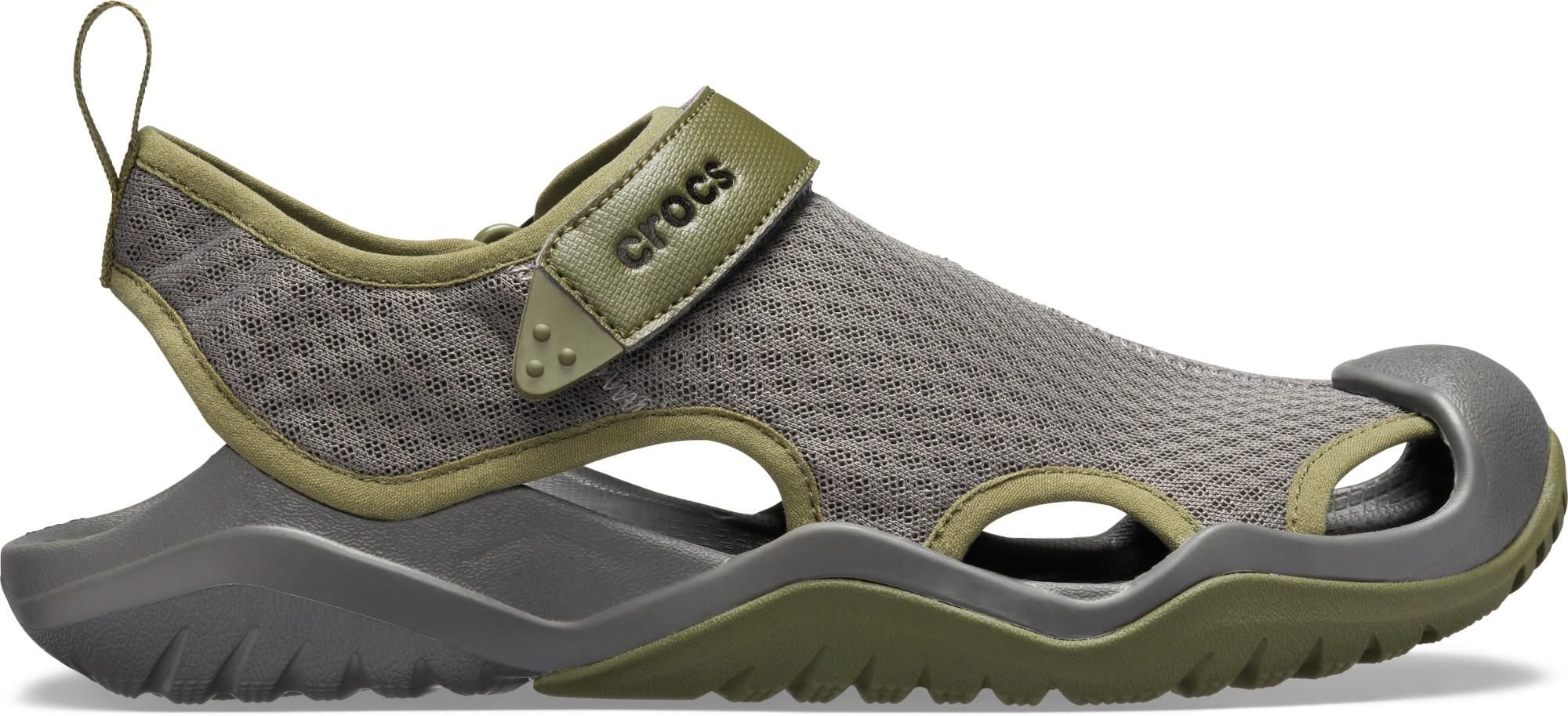 Crocs™ Swiftwater Mesh Deck Sandal Men's Slate Grey 41