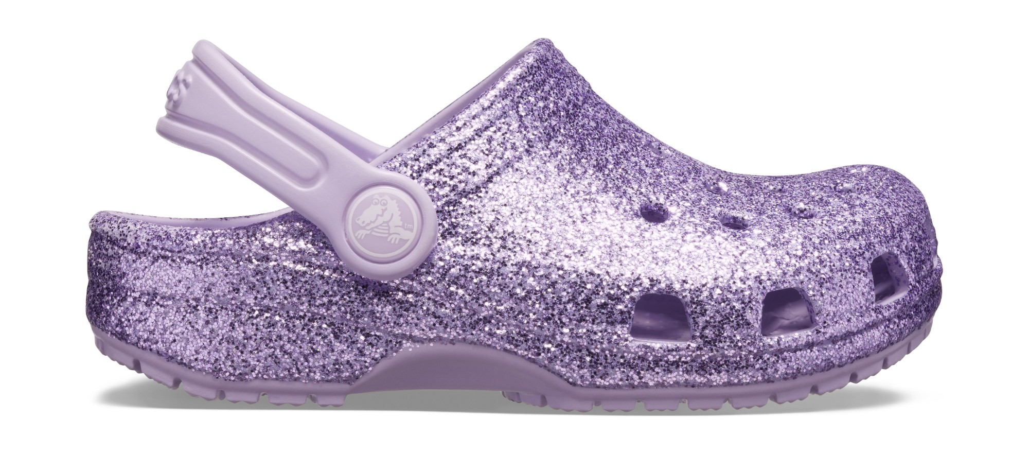 Crocs™ Kids' Classic Glitter Clog Lavender 33,5