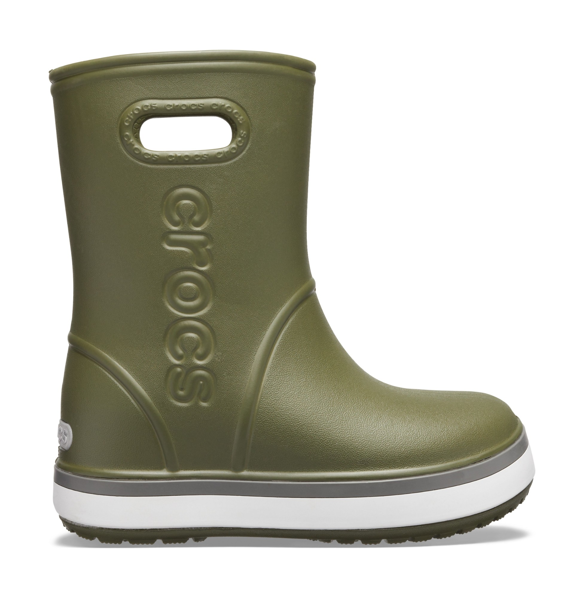 Crocs™ Crocband Rain Boot Kid's Army Green/Slate Grey 29