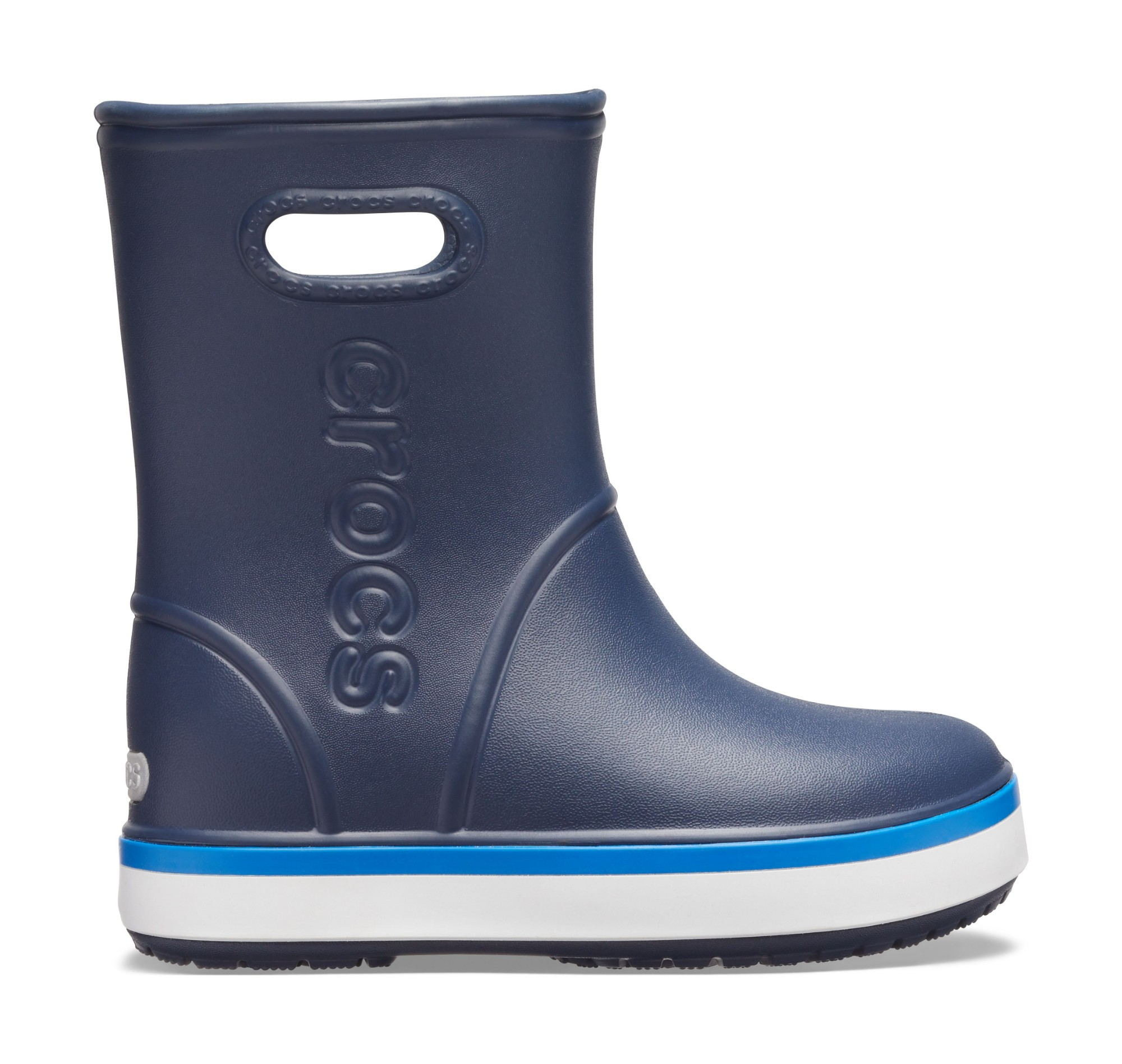Crocs™ Crocband Rain Boot Kid's Navy/Bright Cobalt 27