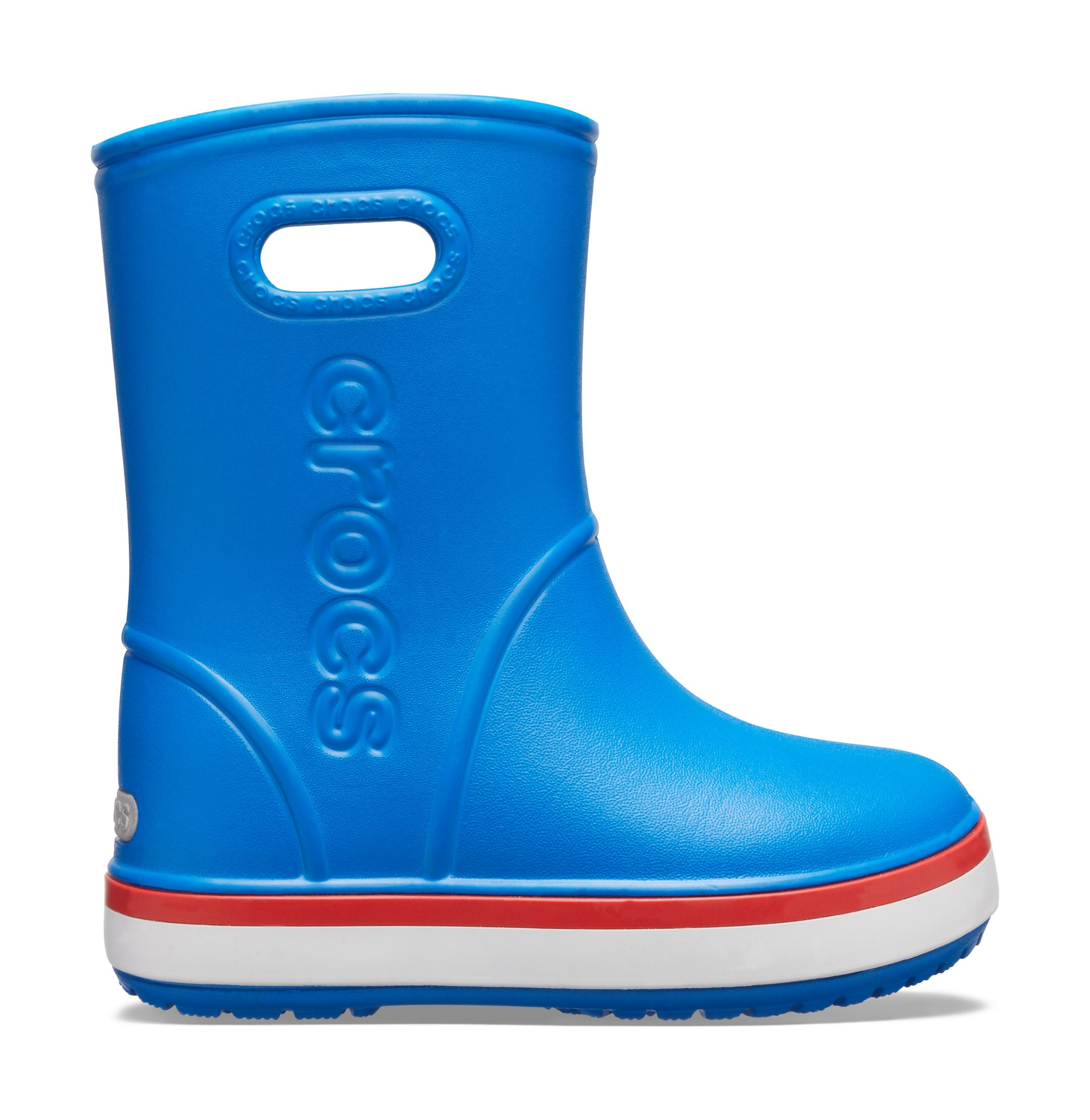 Crocs™ Crocband Rain Boot Kid's Bright Cobalt/Flame 32