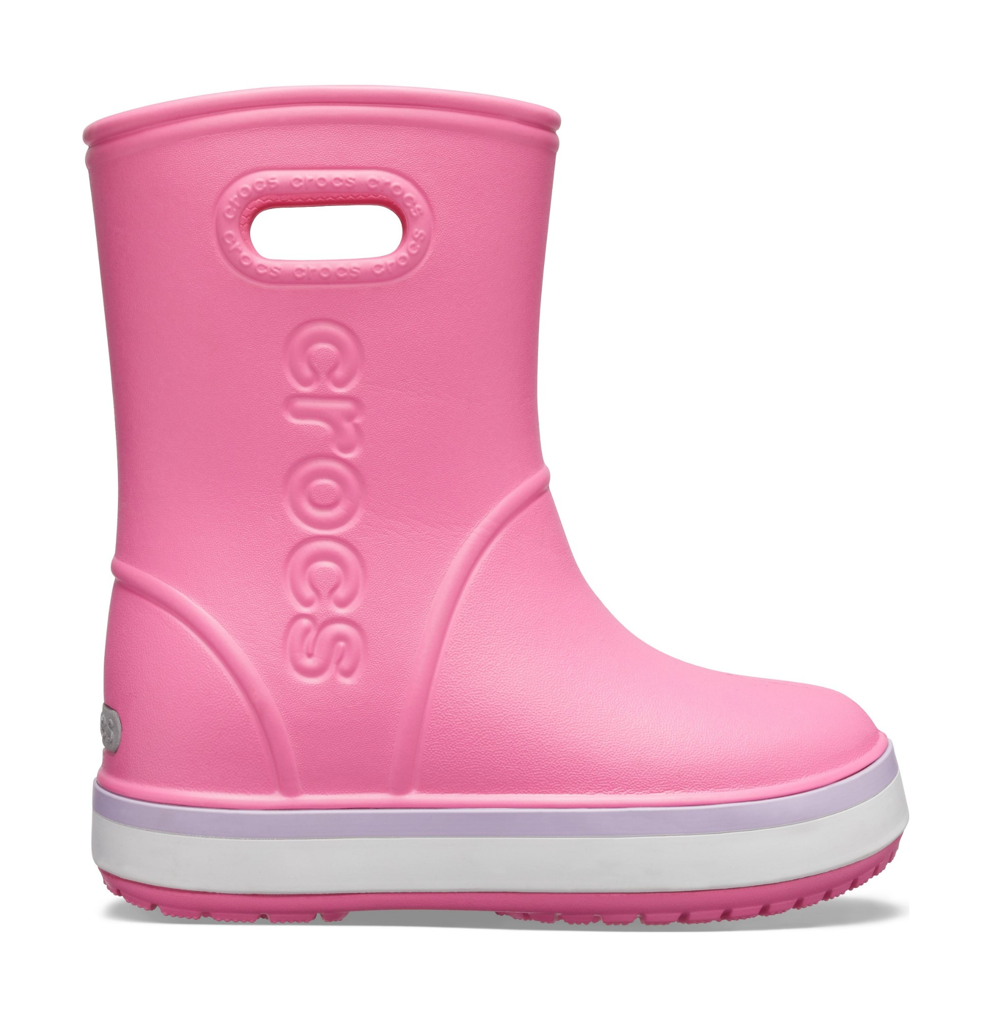 Crocs™ Crocband Rain Boot Kid's Pink Lemonade/Lavender 23