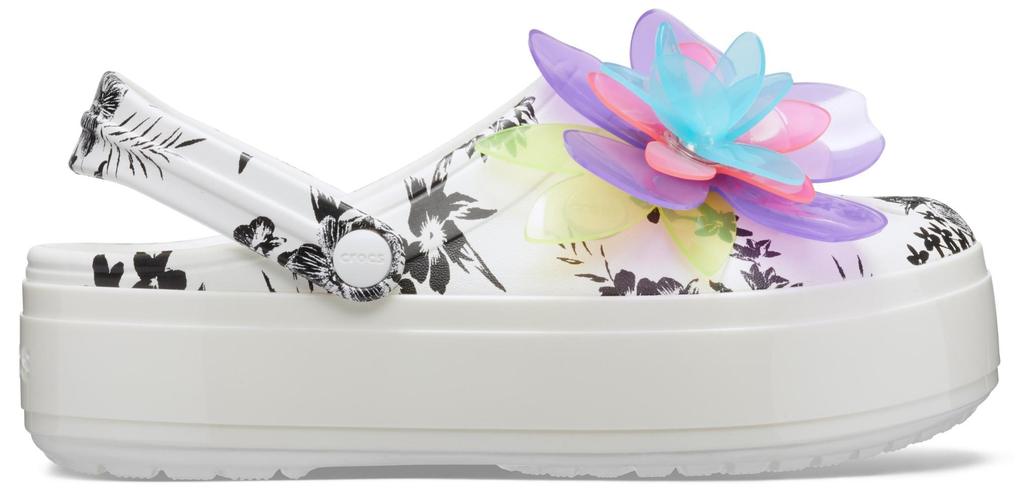 Crocs™ Crocband Platform Hyper Tropic Clog Neon Floral/White 39,5