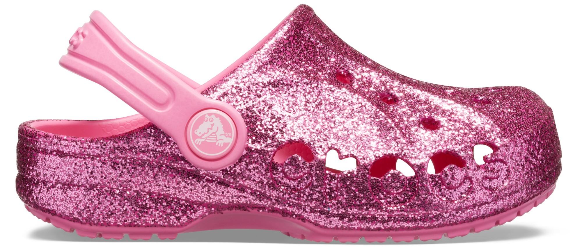 Crocs™ Baya Glitter Clog Kid's Pink Lemonade 32