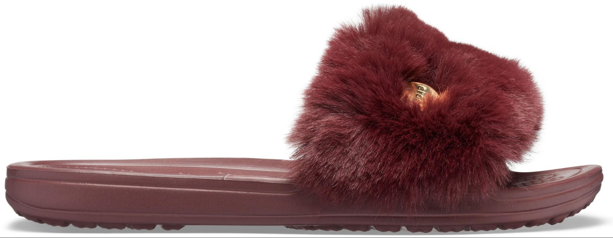 Crocs™ Crocs Sloane Luxe Slide Women's Burgundy/Burgundy 37,5