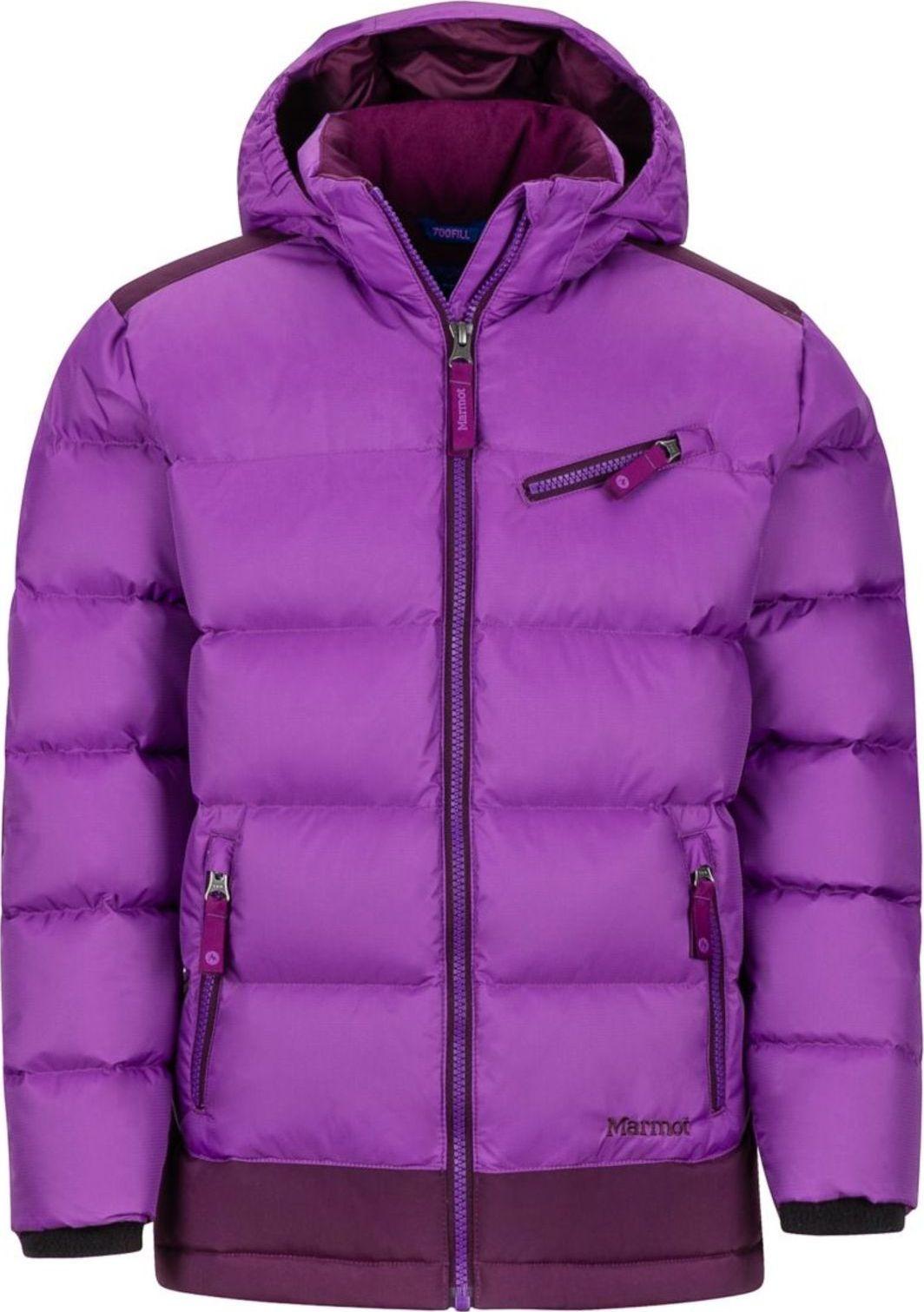 Marmot Girl's Sling Shot Jacket Bright Violet/Dark Purple XL