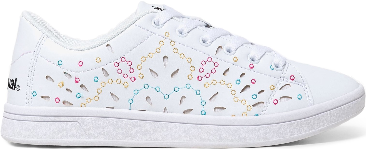 Desigual Tennis Canvas Embroidered Blanco 39