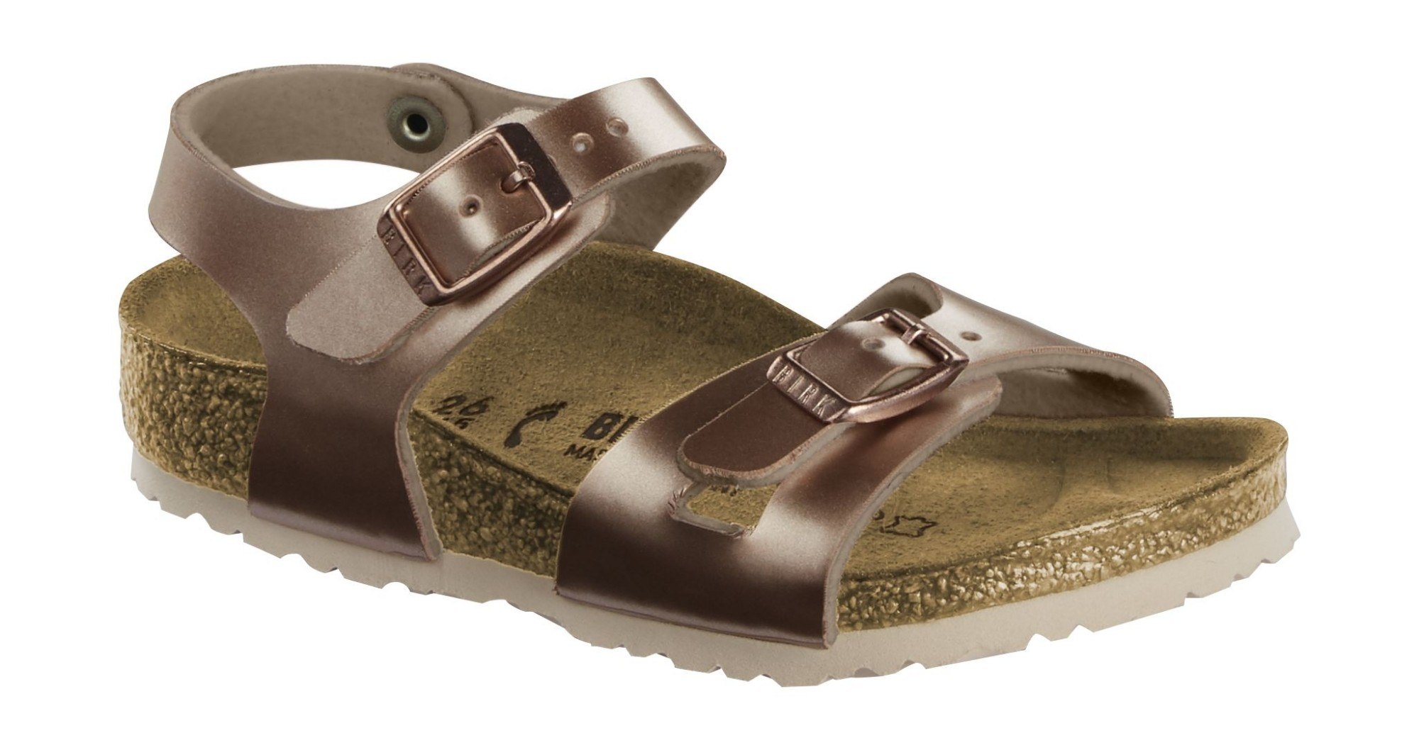 Birkenstock Rio Kids Electric Metallic Copper 27