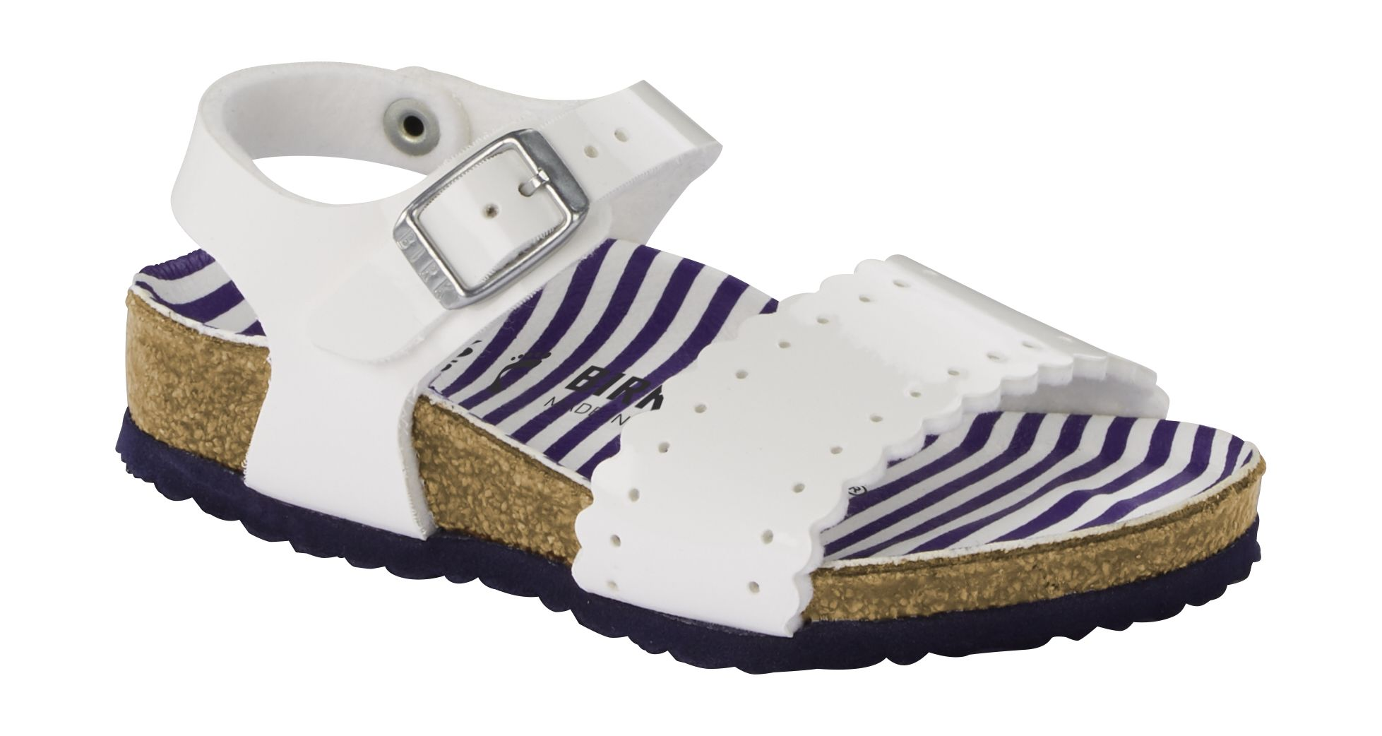 Birkenstock Risa Kids Nautical Stripes White 29