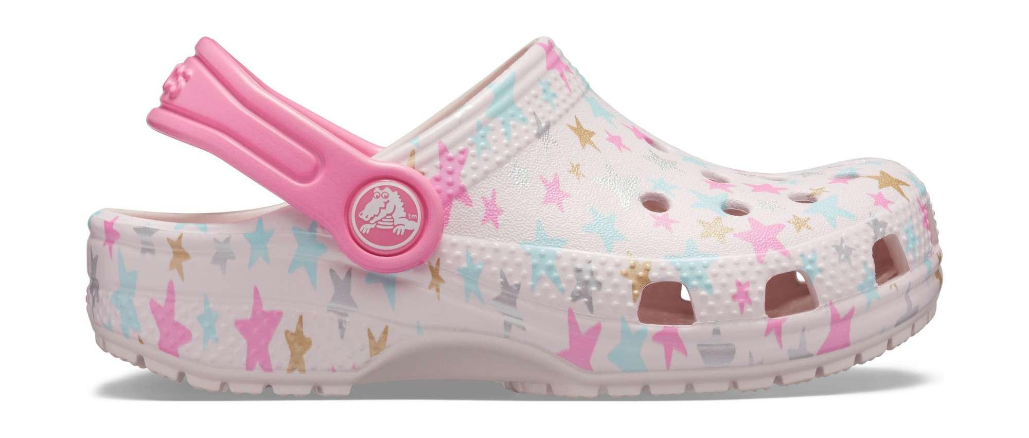 Crocs™ Classic Printed Clog Kid's Barely Pink 35