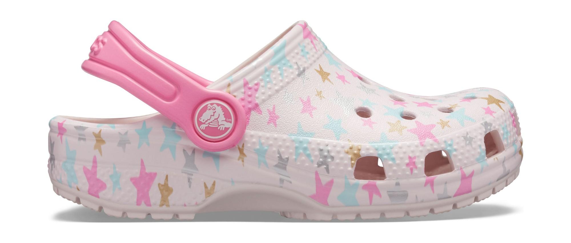 Crocs™ Classic Printed Clog Kid's Barely Pink 33,5