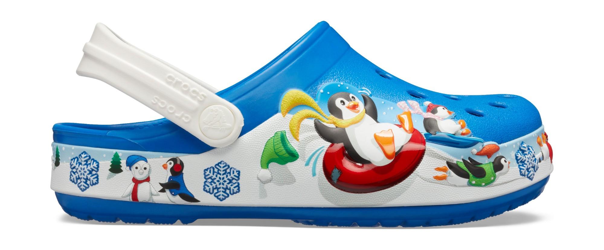Crocs™ FunLab Playful Penguin Clog Kid's Bright Cobalt 24