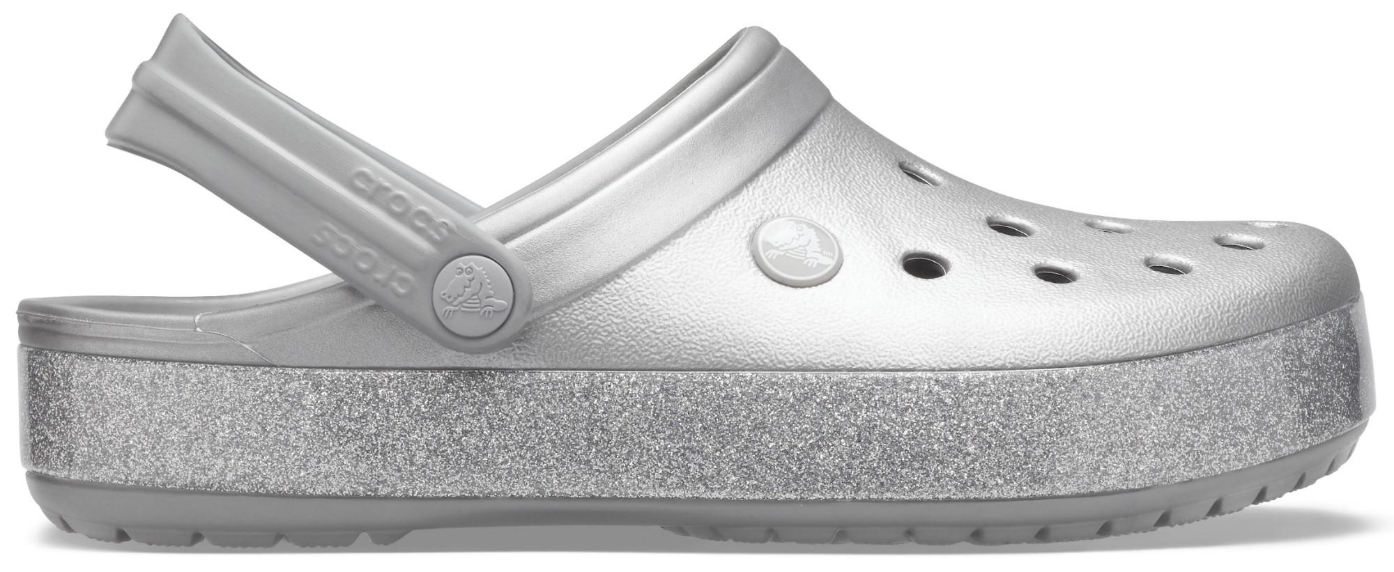 Crocs™ Crocband Printed Clog Metallic Silver 36,5
