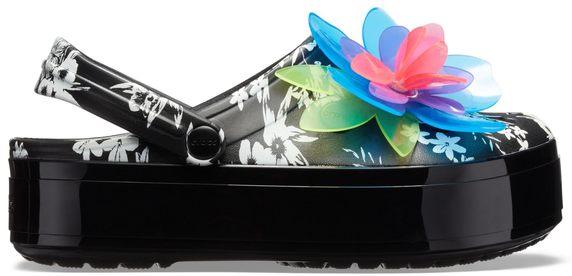 Crocs™ Crocband Platform Hyper Tropic Clog Neon Floral/Black 38,5