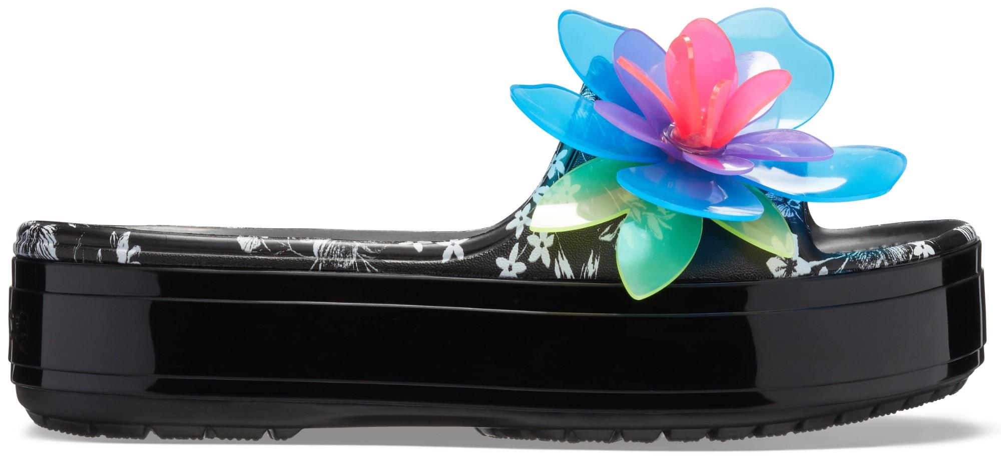 Crocs™ Crocband Platform Hyper Tropic Slide Neon Floral/Black 38,5
