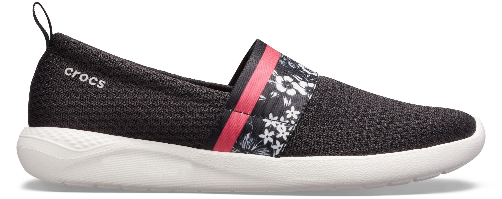 Crocs™ LiteRide Hyper Floral SlipOn Women's Black/White 39,5