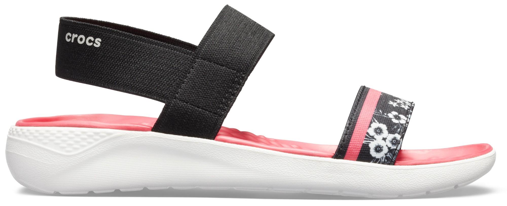Crocs™ LiteRide Hyper Floral Sandal Women's Black/White 39,5
