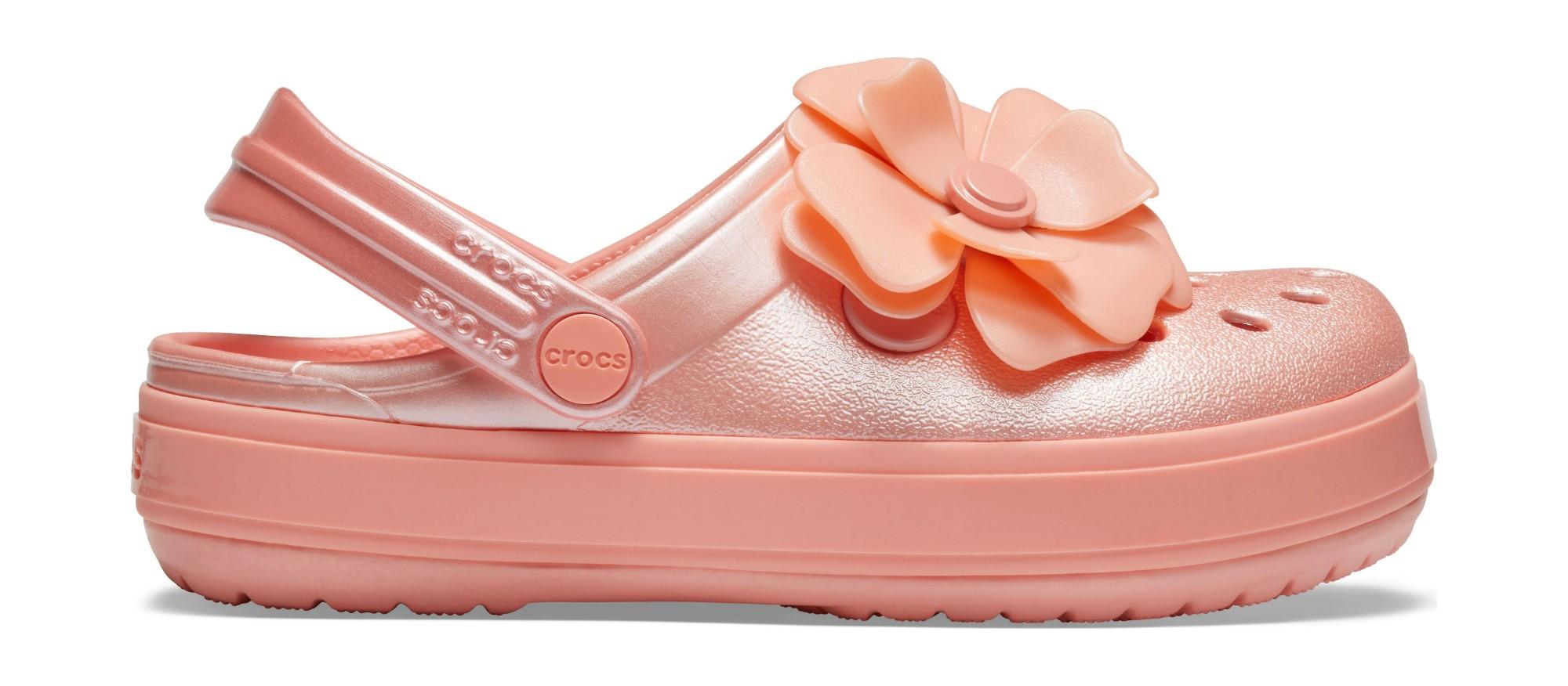 Crocs™ Crocband Vivid Blooms Clog Kid's Melon 26