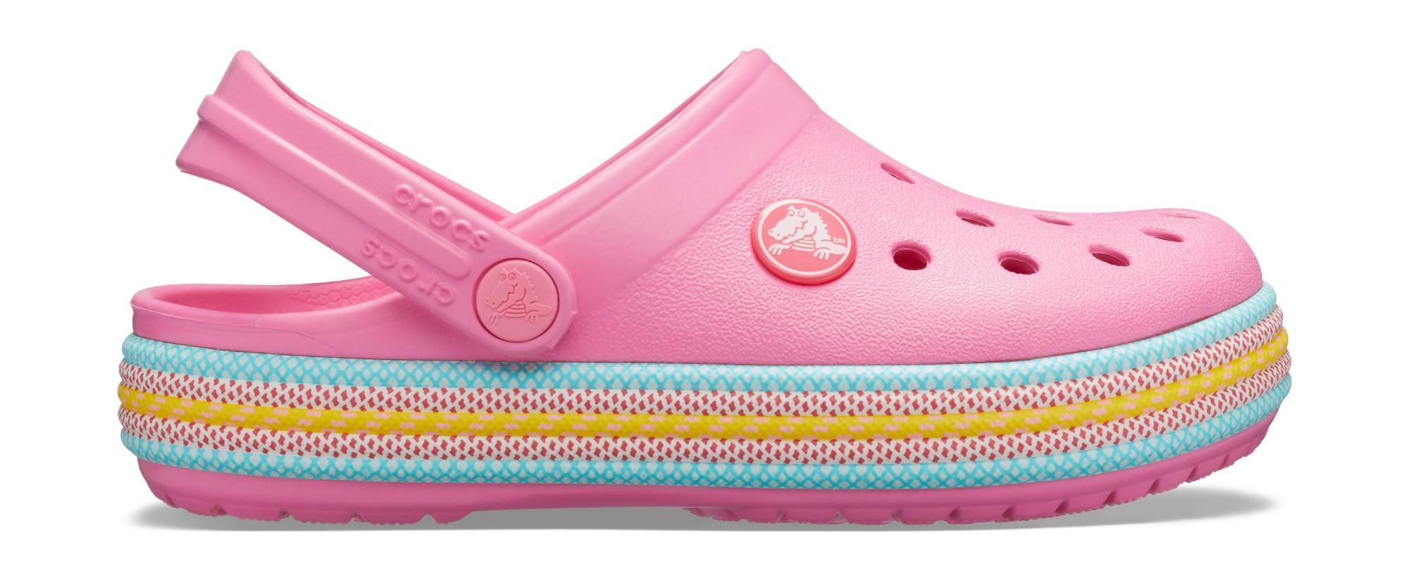 Crocs™ Crocband Sport Cord Clog Kid's Pink Lemonade 27