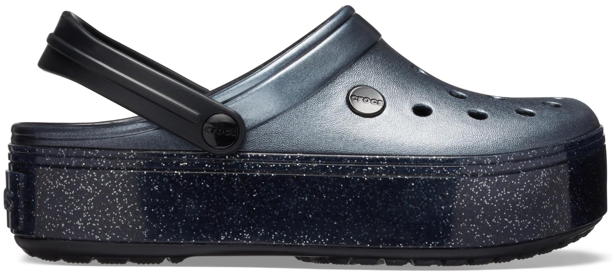 Crocs™ Crocband Platform Metallic Clog Metallic Black 38,5