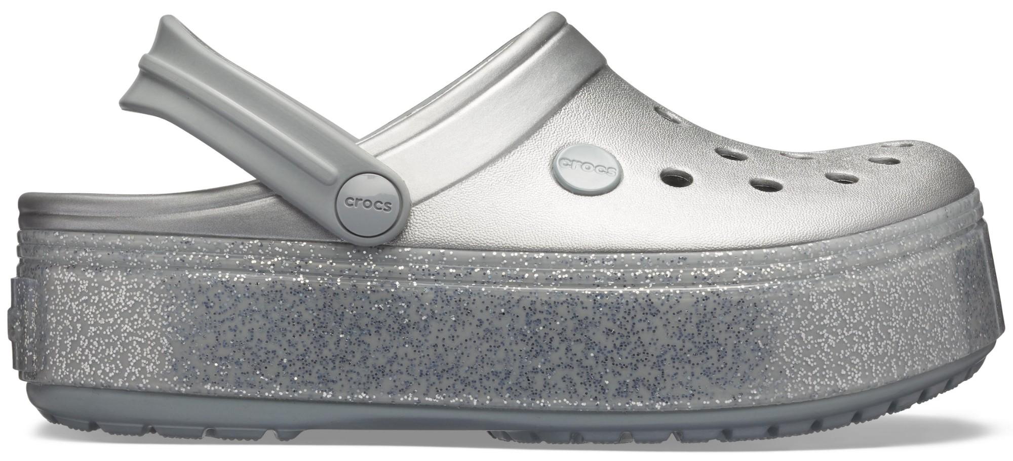 Crocs™ Crocband Platform Metallic Clog Metallic Silver 42,5