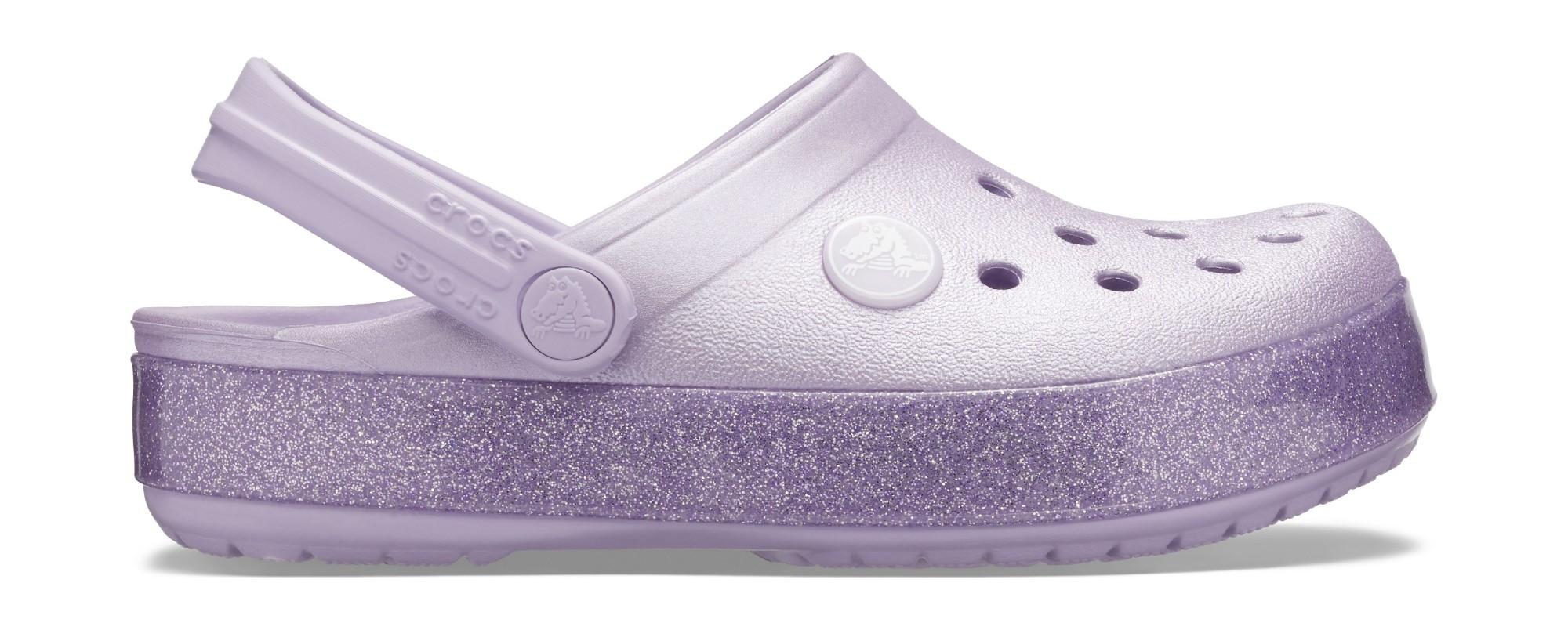 Crocs™ Crocband Glitter Clog Kid's Lavender 28
