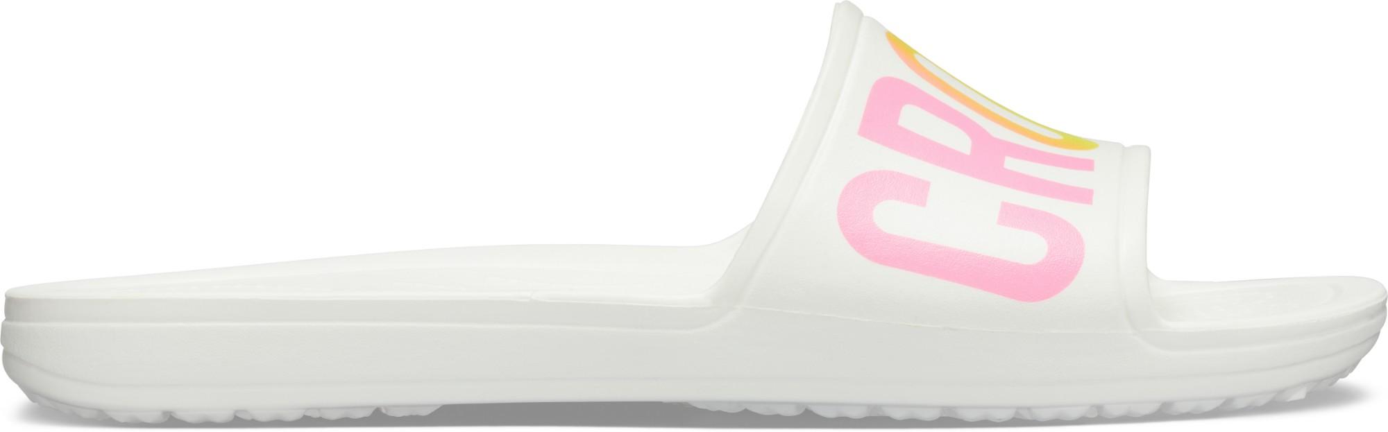 Crocs™ Sloane Logo Mania Slide Women's White 41