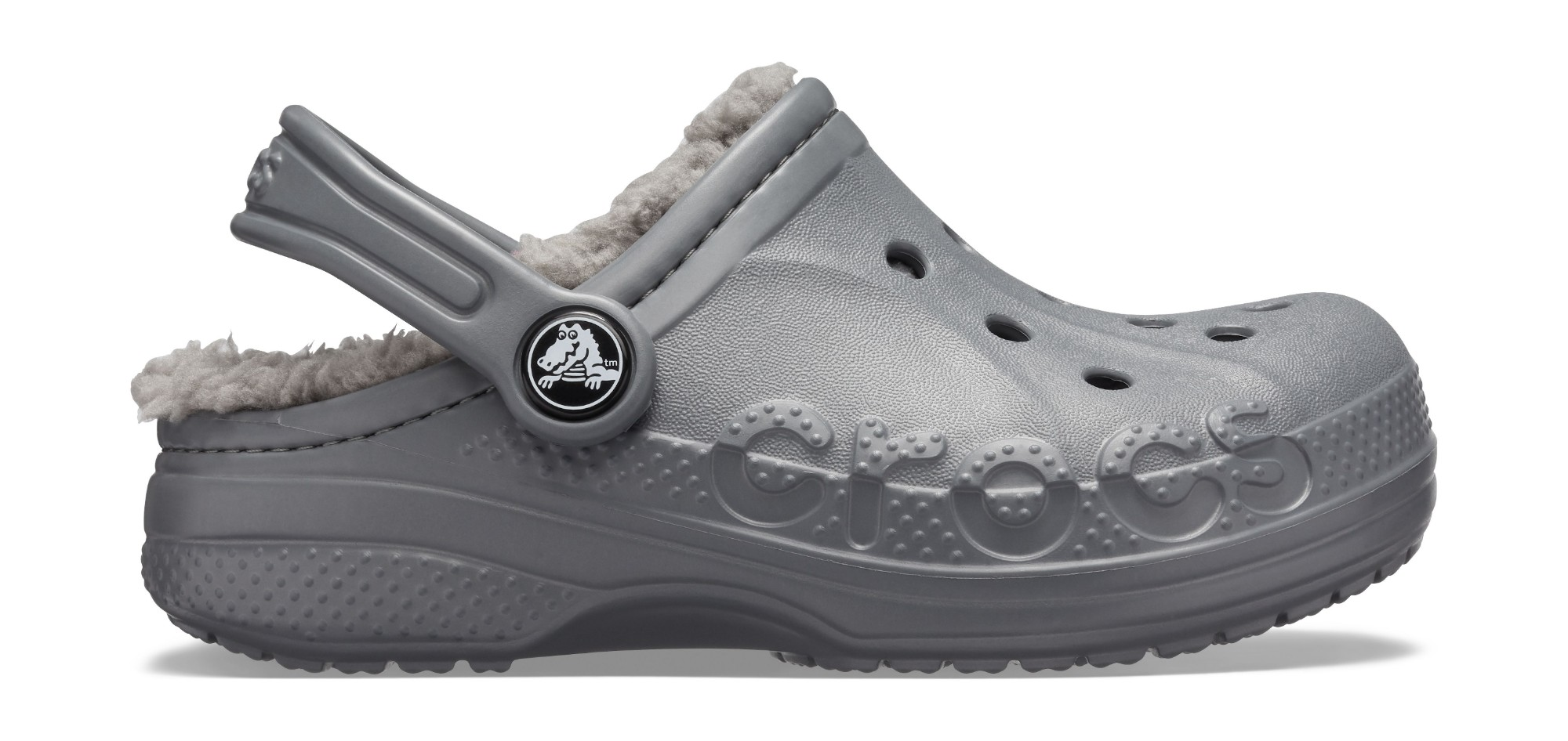 Crocs™ Baya Lined Clog Kid's Charcoal/Charcoal 33,5