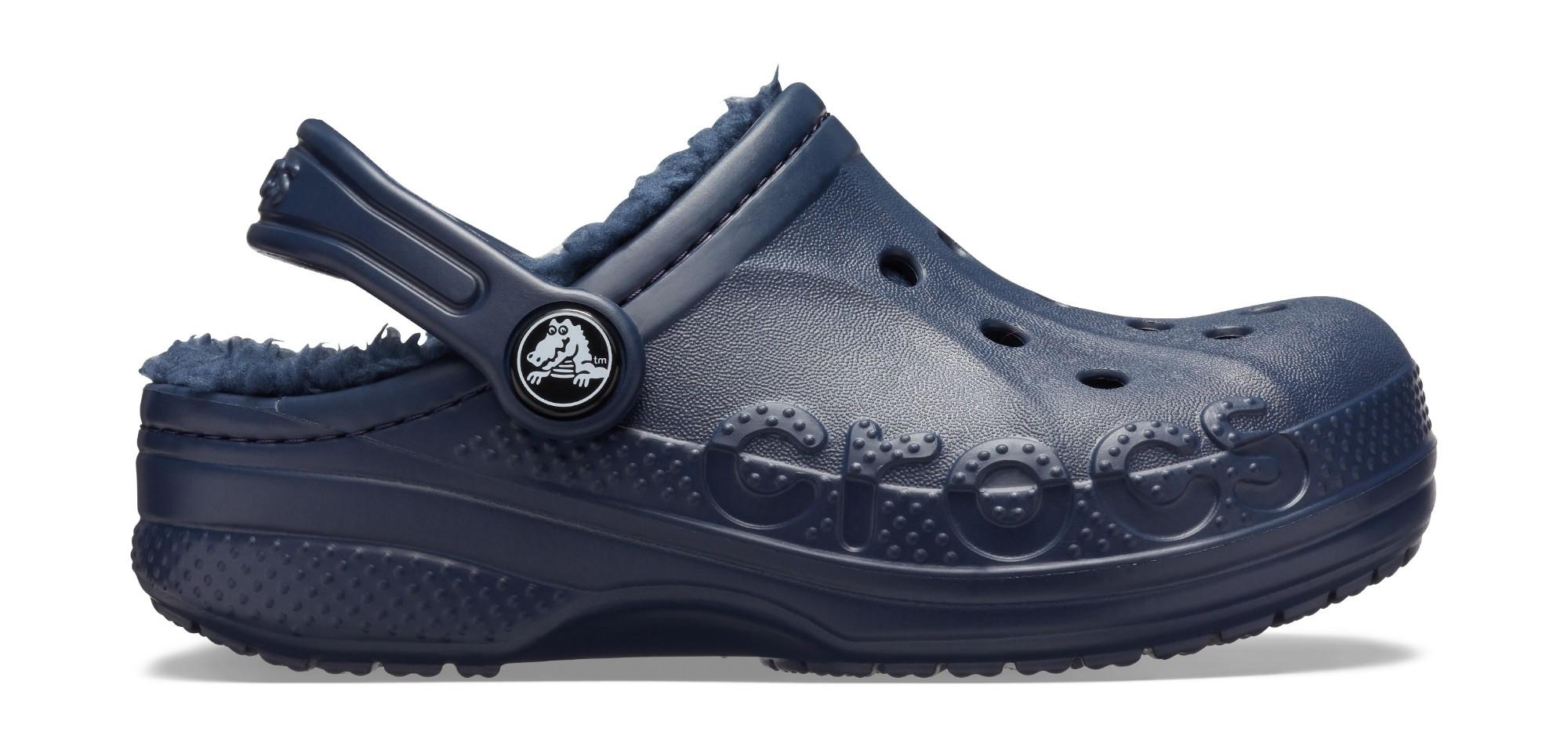 Crocs™ Baya Lined Clog Kid's Navy/Navy 30