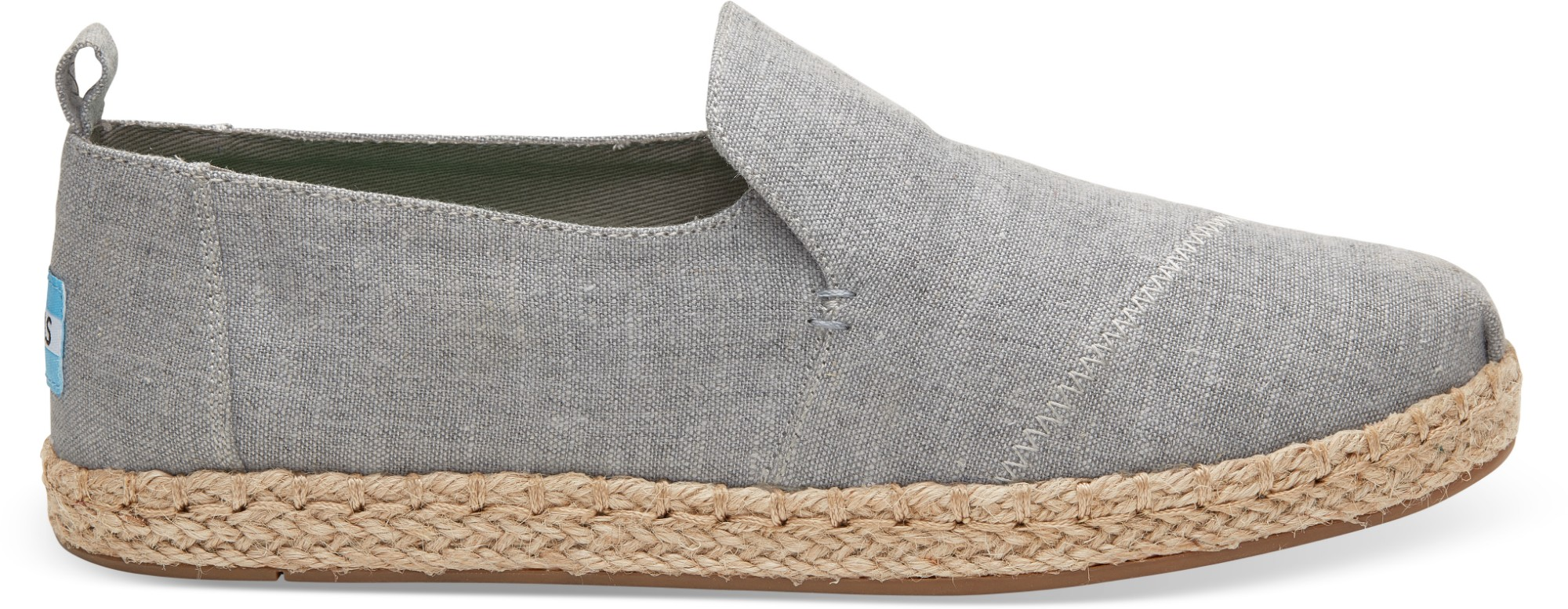 TOMS Slub Chambray Women's Deconstructed Alpargata Drizzle Grey 40
