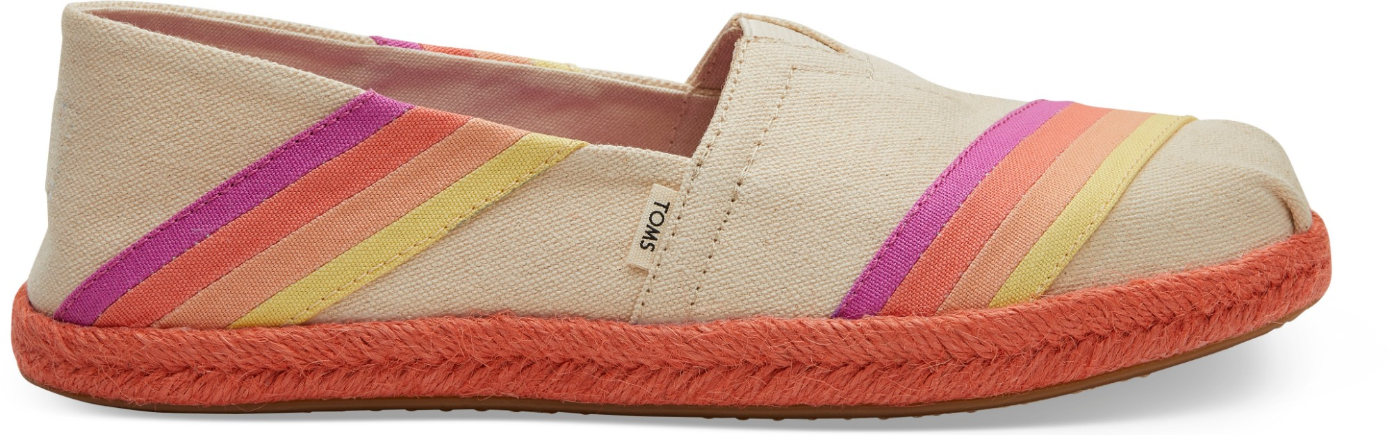 TOMS Canvas Multi Color Sunset Women's Alpargata Natural 39