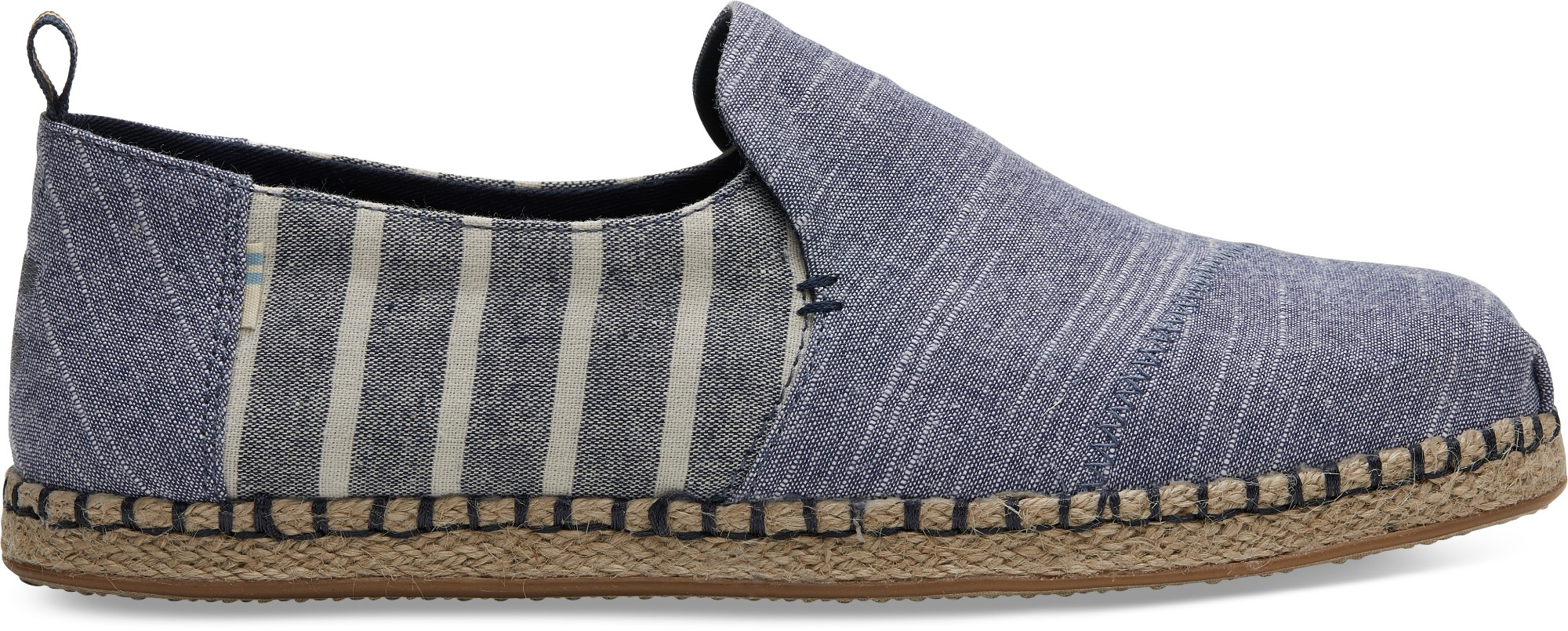 TOMS Cabana Stripe Mix Men's Deconstructed Alp Navy 46