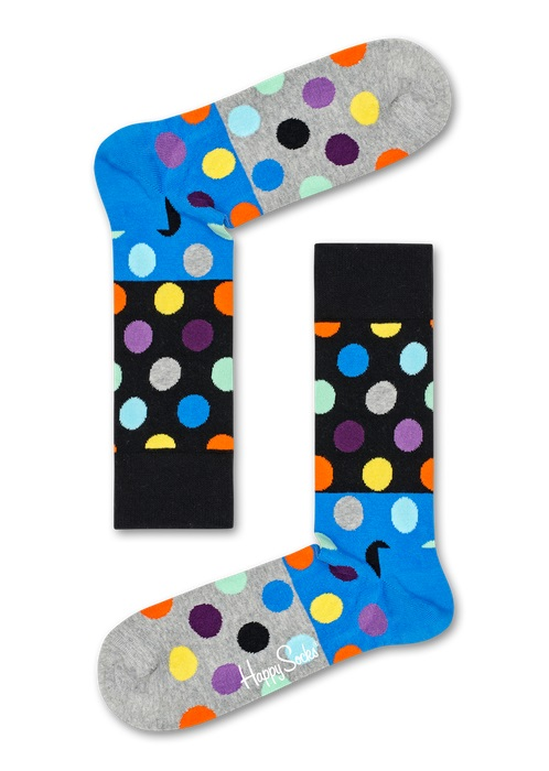 Happy Socks Big Dot Block Multi 9500 36-40