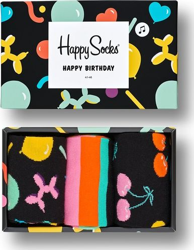 Happy Socks Balloon Animal Birthday Gift Box Multi 7300 36-40