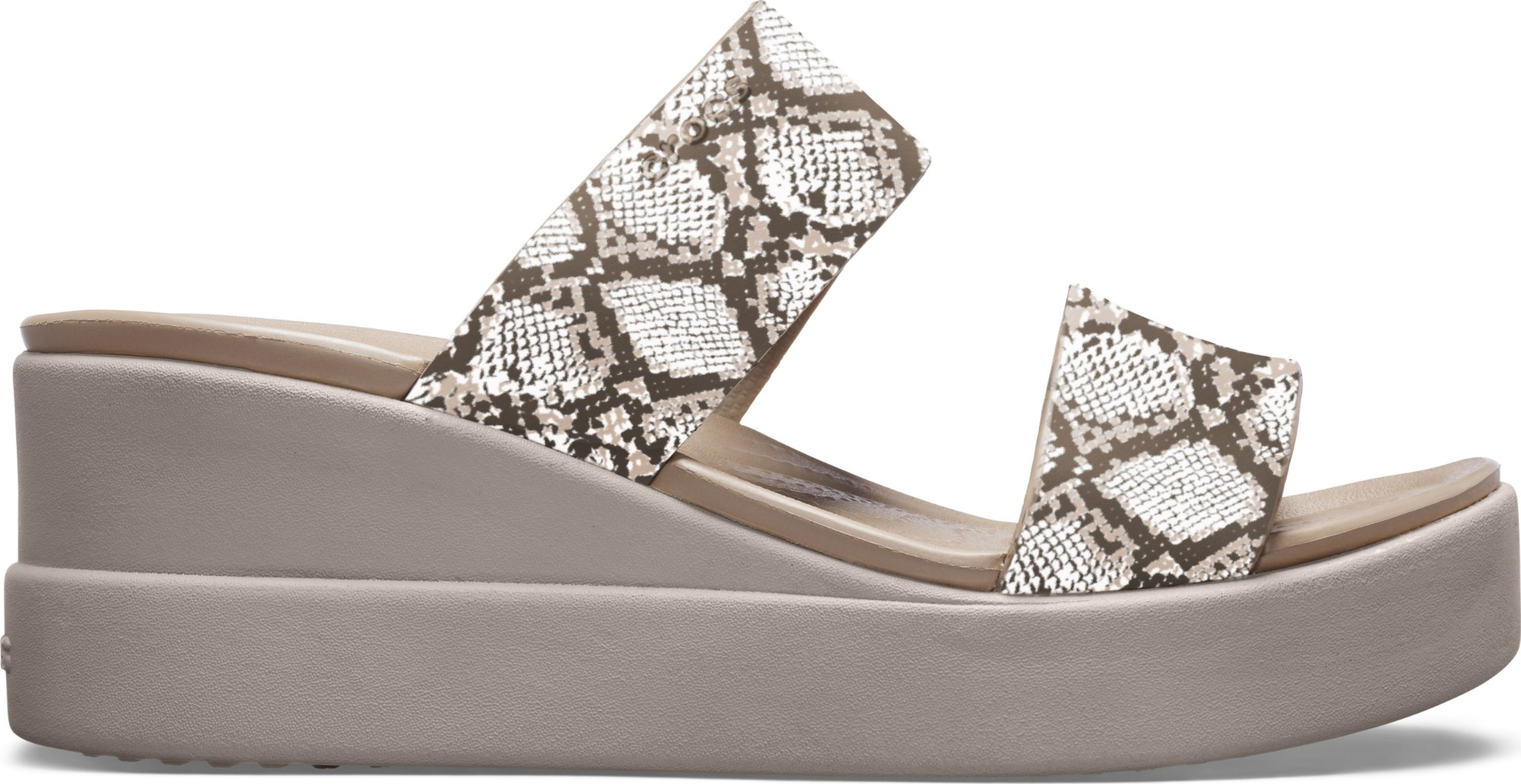Crocs™ Brooklyn Mid Wedge Womens Multi/Stucco 35