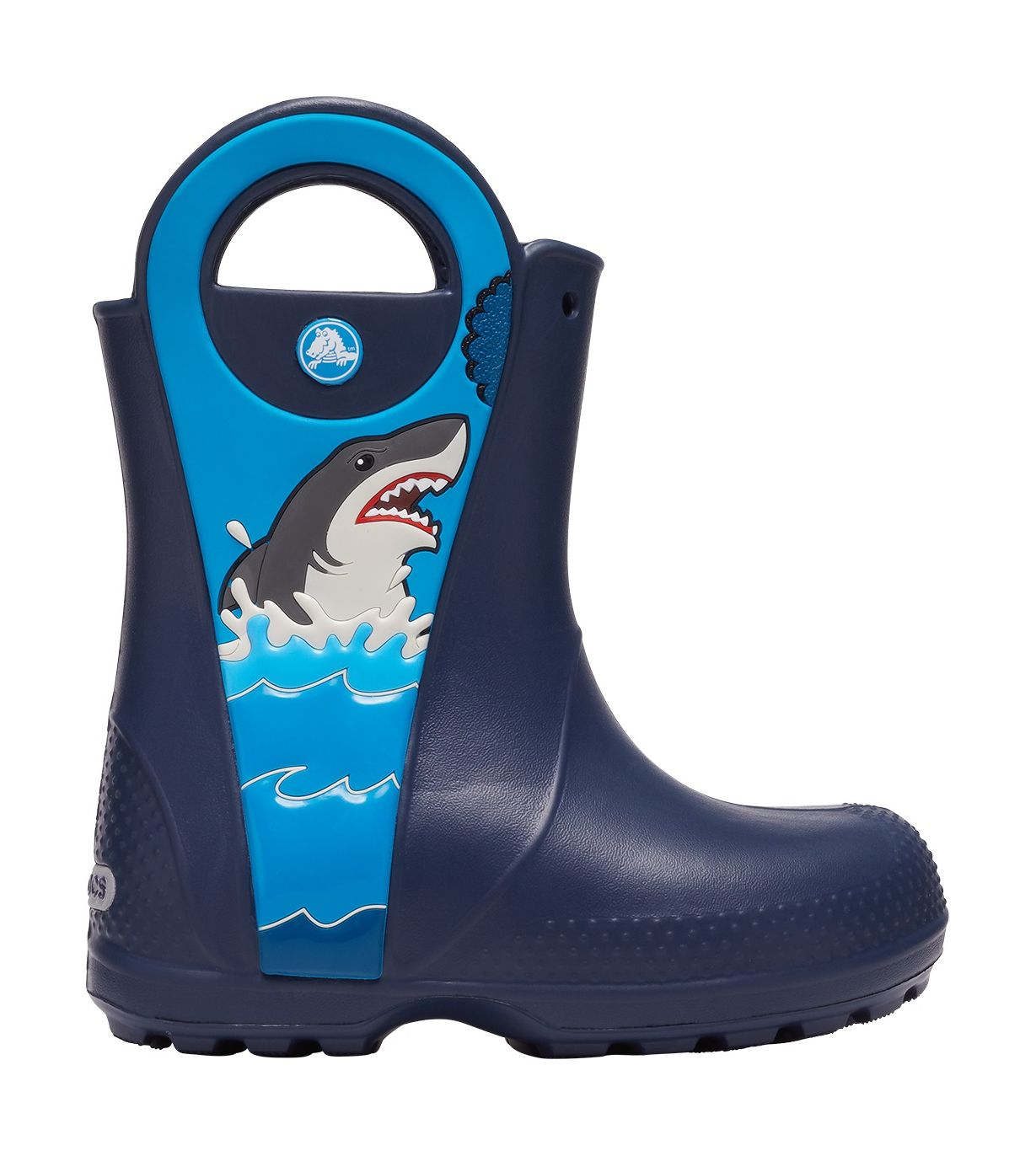 Crocs™ Funlab Shark Patch Rain Boot Kids Navy 23