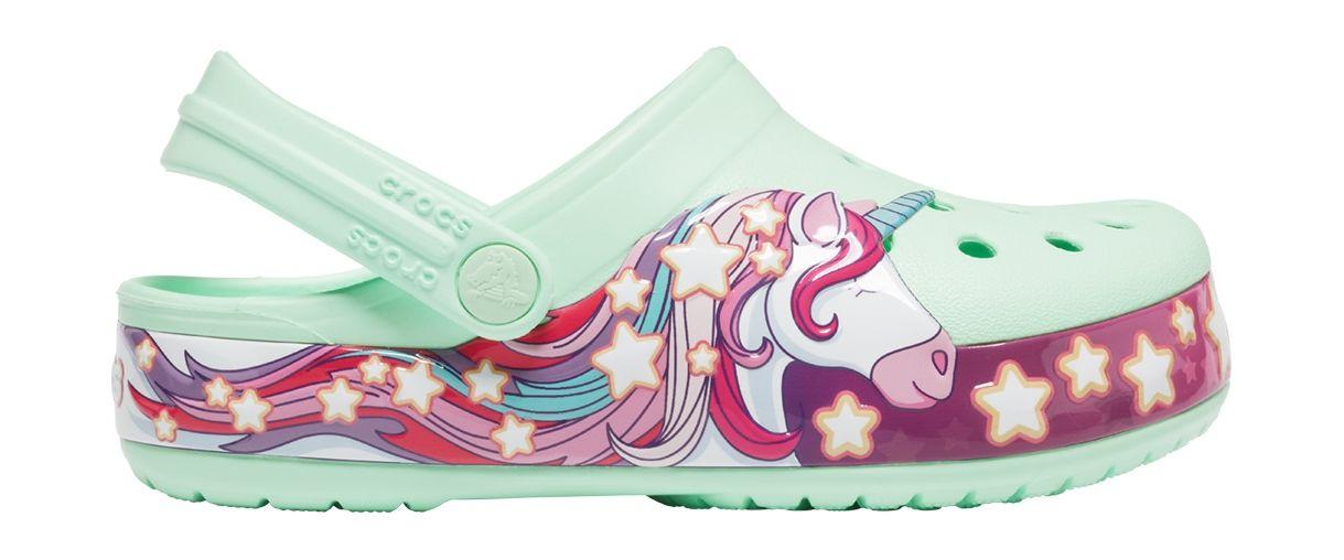 Crocs™ Funlab Unicorn Band Clog Kids Neo Mint 29