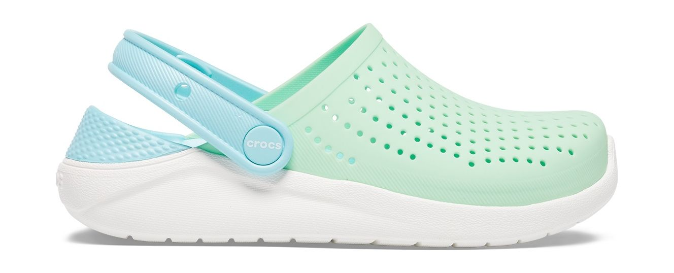 Crocs™ LiteRide Clog Kid's Neo Mint/White 28