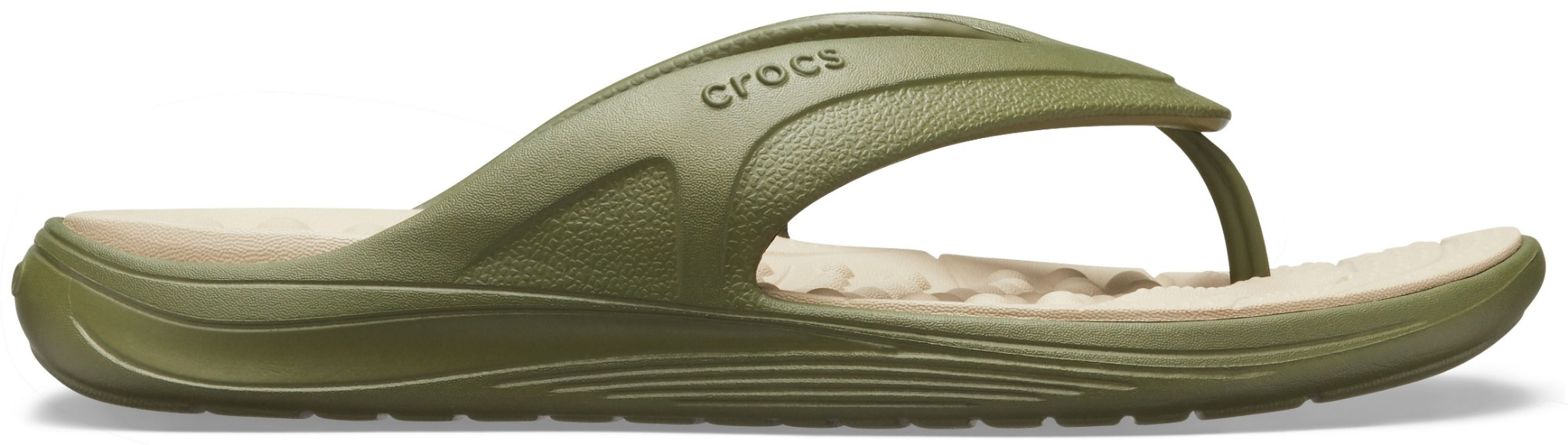 Crocs™ Reviva Flip Army Green/Cobblestone 37,5